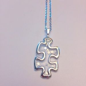 "Handcrafted ""18 chain Autism Awareness Necklace"